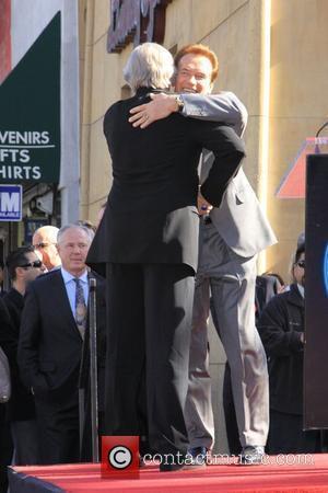 James Cameron and Arnold Schwarzenegger