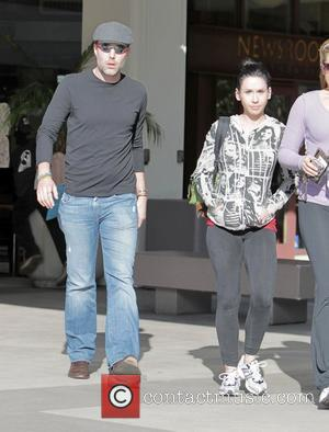 Actor/producer James Haven,  the older brother of Angelina Jolie, exits the Newsroom Cafe on Robertson Boulevard after having lunch...