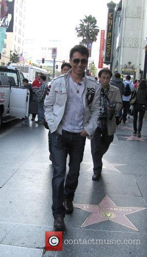 James Kyson Lee  The Heroes star shooting a documentary on the Hollywood Walk of Fame. Los Angeles, California -...