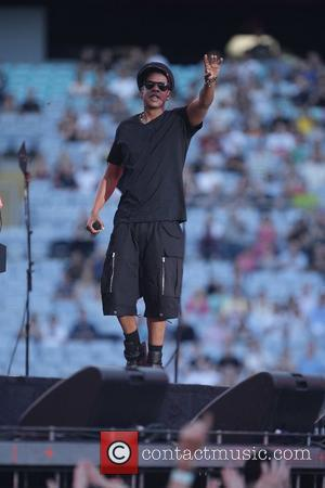 Jay Z performing live in concert at ANZ Stadium as support act to U2 Sydney, Australia - 13.12.10