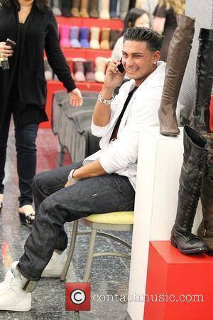 Paul Delvecchio aka Pauly D Cast of the hit MTV reality show 'Jersey Shore' shopping at Beverly Center in Beverly...