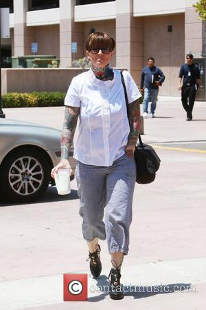 Janine Lindemulder  outside the Orange County Superior Court for the final day of testimony in the ongoing custody battle...