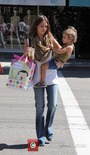 Jessica Alba and her daughter Honor Marie were spotted shopping in Beverly Hills Los Angeles, USA - 25.09.10