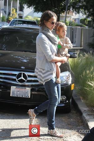 Jessica Alba, and Honor Marie Warren spend the day at a friends house in Marina del Rey Los Angeles, USA...