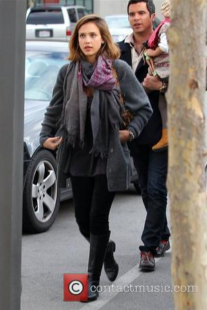 Jessica Alba - out and about candids in Brentwood, February 2, 2011