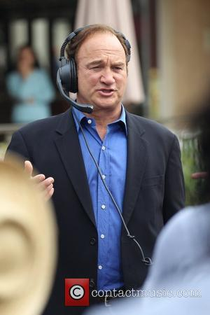 Jim Belushi  during an interview for the entertainment television news programme 'Extra' at The Grove in Hollywood Los Angeles,...