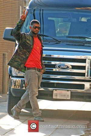 Usher Raymond and Jimmy Kimmel