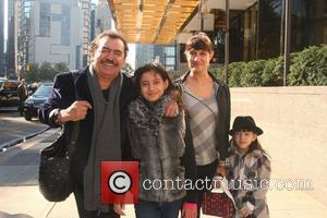 Singer Joan Sebastian and his family pose for a photo outside their Manhattan hotel New York City, USA - 03.11.10