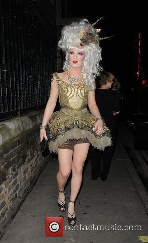 Jodie Harsh attends her 25th birthday party held at House of St Barnabus in Soho London, England - 17.02.10