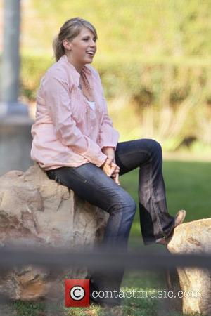 Jodie Sweetin is interviewed at a park in Hollywood. Los Angeles, California - 12.10.10