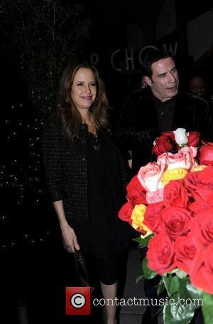 Kelly Preston and John Travolta leaving Mr Chow restaurant Los Angeles, California - 19.01.11