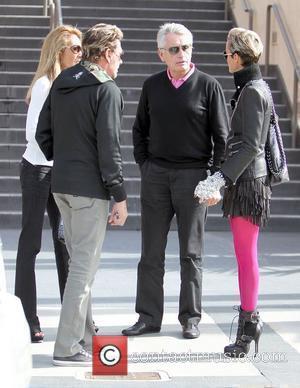 Johnny Hallyday, Dwayne Johnson and Laeticia Boudou
