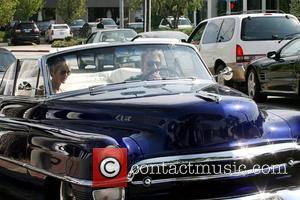 Laeticia Boudou and Johnny Hallyday leaving Sur Restaurant and Bar in West Hollywood after meeting friends for lunch Los Angeles,...