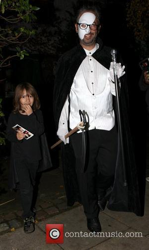 David Baddiel,  at Jonathan Ross' Halloween fancy dress party. London, England - 31.10.10