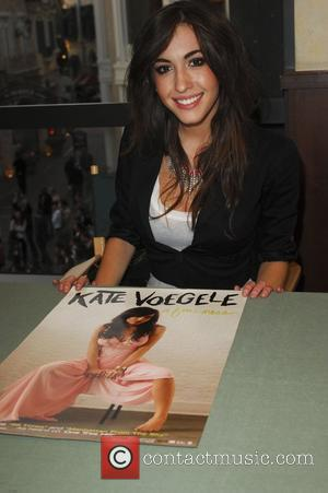 Kate Voegele backstage before performing live at The Grove in West Hollywood Los Angeles, California - 15.04.10