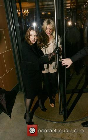 Linda Bruckheimer and Sienna Miller leaving C London restaurant.  London, England - 27.09.10