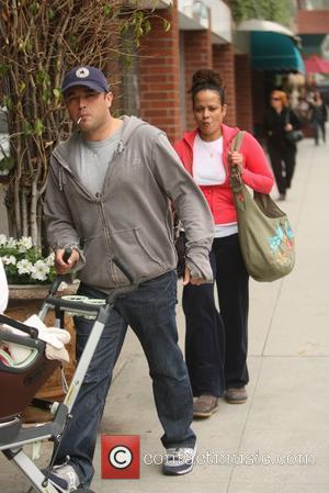 Judy Reyes  and family head to the medical center in Beverly Hills Los Angeles, California - 27.04.10