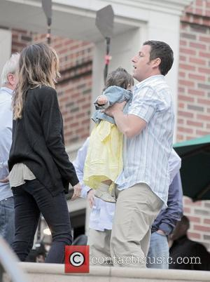 Actor Adam Sandler, Jennifer Aniston and Nicole Kidman