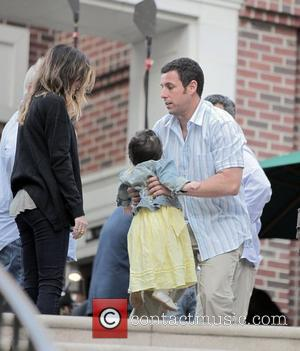 Actor Adam Sandler, Jennifer Aniston and Nicole Kidman