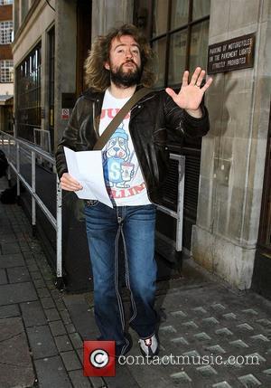 Justin Lee Collins leaving the BBC Radio 1 studios London, England - 08.12.09