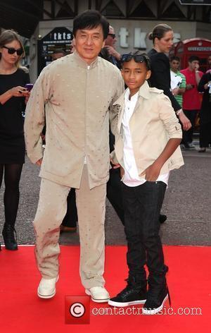 Jaden Smith and Jackie Chan UK film premiere of Karate Kid held at the Odeon cinema London, England - 15.07.10