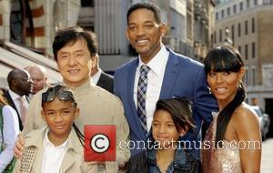Jackie Chan, Jada Pinkett, Jaden Smith and Will Smith