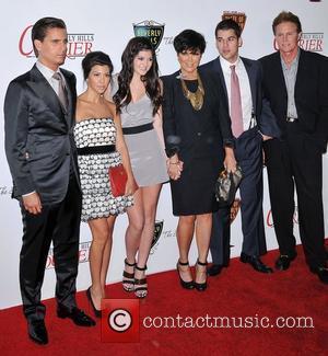 Kourtney Kardashian, Bruce Jenner, Kylie Jenner and Larry King