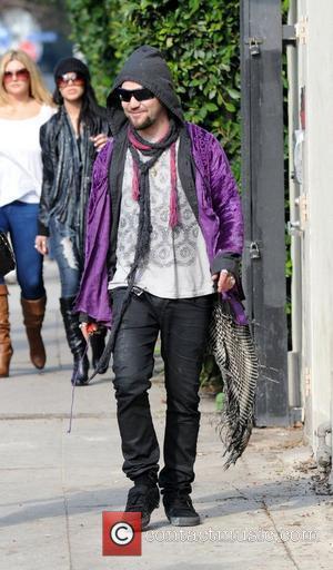 Bam Margera has lunch with friends in in Los Feliz Los Angeles, California - 07.01.11