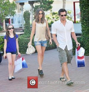 Kate Beckinsale, Lily Mo Sheen and Len Wiseman shopping in Santa Monica Santa Monica, California - 21.08.10