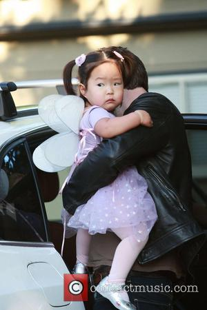 Josh Kelly leaves his home with daughter Naleigh, who is dressed as a fairy, and head for a Halloween party...