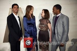 Rajendra Roy, Kathryn Bigelow, Anthony Mackie and guest attends the 3rd annual Museum of Modern Art Film Benefit: A Tribute...