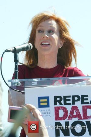 Kathy Griffin speaks at the 'Don't Ask Don't Tell' Rally at Freedom Plaza Washington DC, USA - 18.03.10