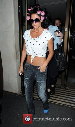 Katie Price aka Jordan leaving the Soho...