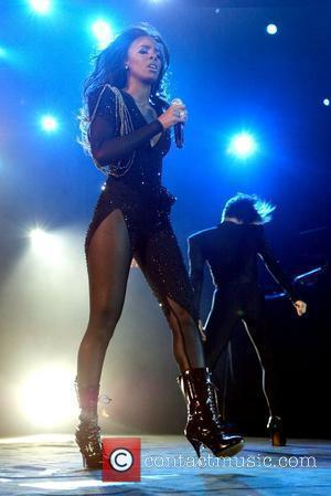 Kelly Rowland  performing live in concert as part of SupaFest 2010, held at the Acer Arena  Sydney, Australia...