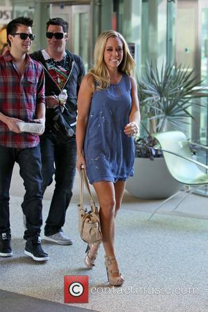 Kendra Wilkinson arriving for a meet and greet at the GNC store to promote a new health supplement called 'Ab...