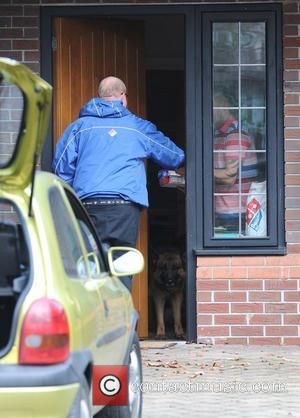 While most girls get flowers on Valentine's Day, a Domino's pizza is delivered to the house of Kerry Katona, on...
