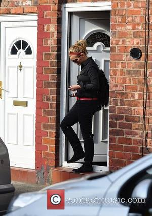 Kerry Katona  leaving her mum's house to go for lunch at a Toby Carvery Warrington, England - 02.03.10