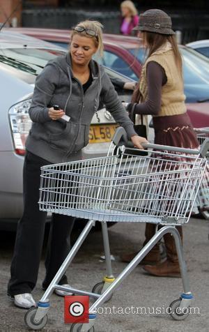 Kerry Katona  after shopping at a Tesco Supermarket.  Cheshire, England - 01.03.10