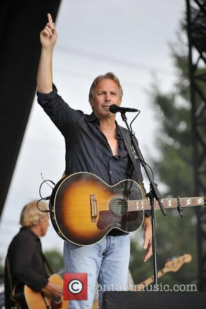 Kevin Costner & Modern West perform at Country Thunder in Twin Lakes Wisconsin, USA - 24.07.10