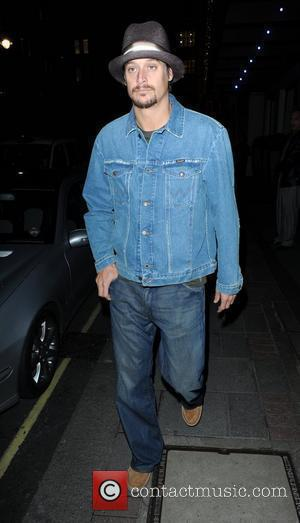 Kid Rock out and about wearing a denim jacket and jeans. London, England - 28.09.10