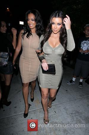 Kim Kardashian and Lala Vasquez