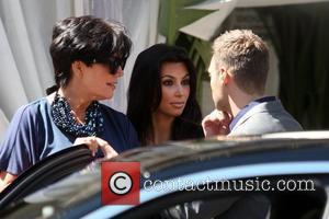 Kris Jenner, Kim Kardashian and Ryan Seacrest seen leaving the Villa Blanca restaurant in Beverly Hills after having lunch with...