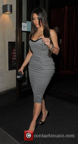 Kim Kardashian, Aqua and Leaves