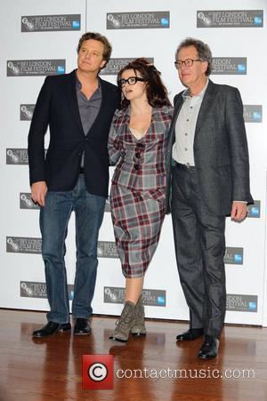 Colin Firth, Geoffrey Rush and Helena Bonham Carter