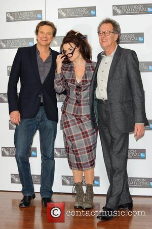 Colin Firth , Helena Bonham Carter and Geoffrey Rush The 54th Times BFI London Film Festival - The King's Speech...