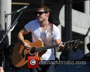Kris Allen performs on the Landshark Tailgate stage prior to the Miami Dolphins vs Clevland Browns NFL game Miami, Florida...
