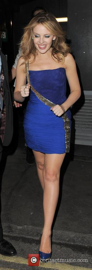 Kylie Minogue leaving Movida nightclub at 2am, appearing a little unsteady on her feet London, England - 20.05.10