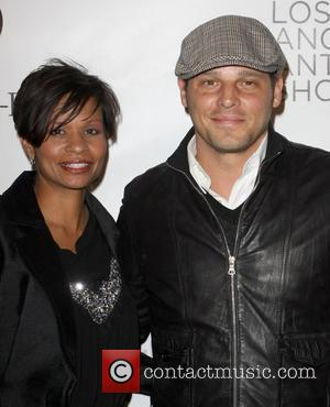 Justin Chambers and wife Keisha Chambers Opening night preview party of the LA Antique Show benefiting P.S ARTS at the...