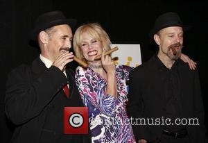 Mark Rylance, Joanna Lumley and David Hyde Opening night after party of the Broadway production of 'La Bete' at Gotham...