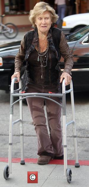 Actress Cloris Leachman  enters a Medical building with her walker and leaves without it Beverly Hills, California - 11.01.10